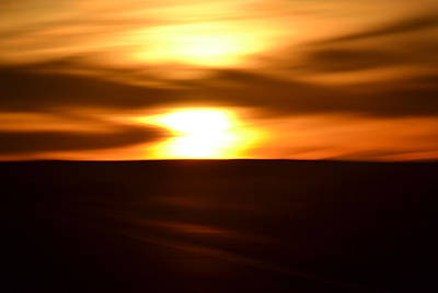 Art Print featuring the photograph Sunset Abstract II by Nadalyn Larsen