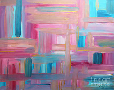 Painting - Sunset Abstract by Stacey Zimmerman