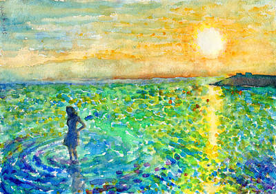Painting - Sunset Across The Bay by Yumi Kudo