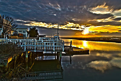 Photograph - Sunset Across The Inlet by Bill Barber