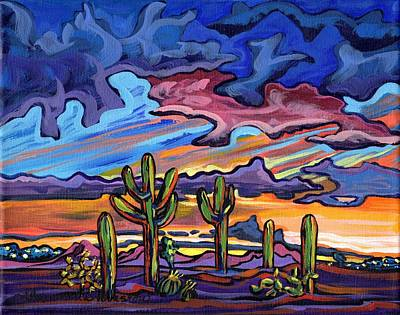 Painting - Sunset Across The Valley by Alexandria Winslow