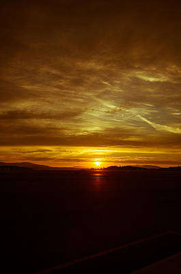 Photograph - Sunset At The Airport by Marilyn Wilson