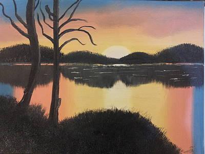 Oil Painting - Sunset by Alaa Alyaseen