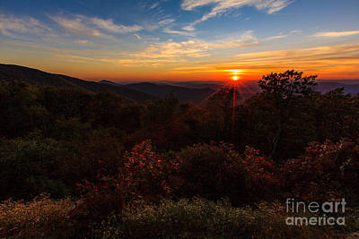 Photograph - Sunset Along The Blue Ridge Parkway by Mark East