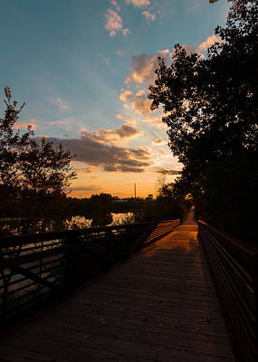 Photograph - Sunset Along The Ottowa Riverwalk by Haren Images- Kriss Haren