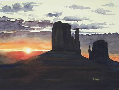 Painting - Sunset Among The Buttes by Norman Freyer