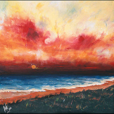 Sunset Art Print by Amy Williams