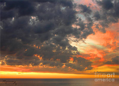 Sunset And Clouds Art Print by Mariarosa Rockefeller