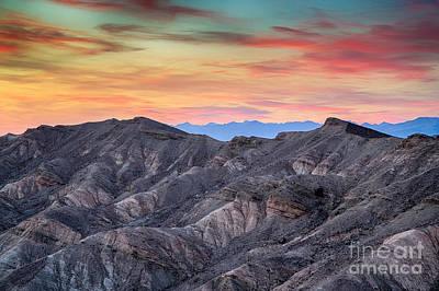 Sunset And Erosion Art Print