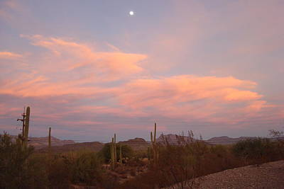Photograph - Sunset And Full Moon by Susan Woodward