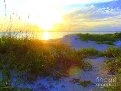 Photograph - Sunset And Sand Dunes by Lou Ann Bagnall