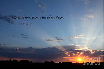 Photograph - Sunset And Scripture by Erica Hanel