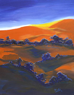 Painting - Sunset And Shadow by Donna Blackhall