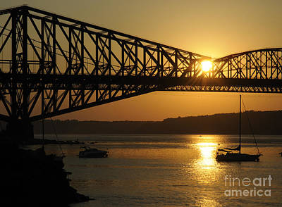 St. Laurent Photograph - Sunset And The Pont De Quebec by Colin Woods