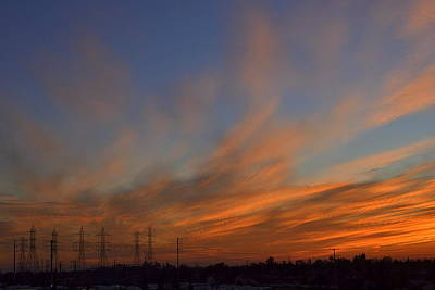 Photograph - Sunset And The Powerline by Rima Biswas