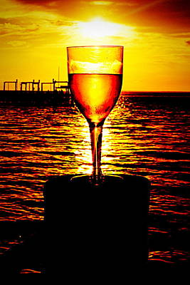 Sunset And Wine Art Print by Paul  Wilford