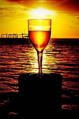 Sunset And Wine Art Print