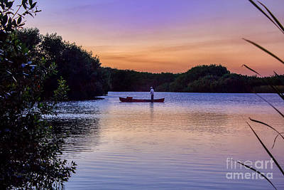 Photograph - Sunset Angler by Rene Triay Photography