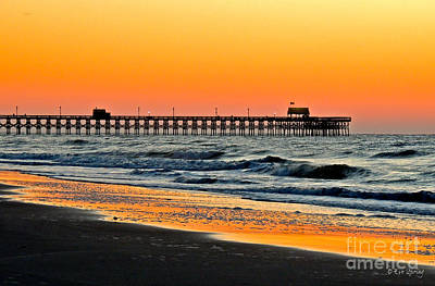 Photograph - Sunset Apache Pier by Eve Spring