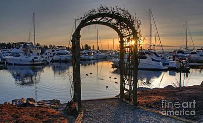Photograph - Sunset Arbor Off Lake Washington Wash Art Prints by Valerie Garner