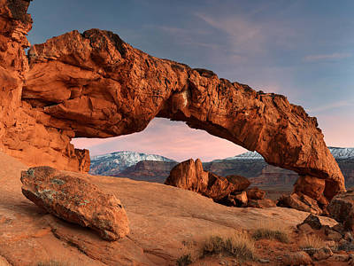 Photograph - Sunset Arch by Leland D Howard