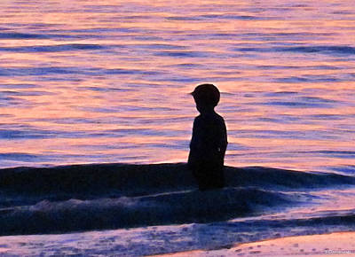 Sunset Art - Contemplation Art Print by Sharon Cummings