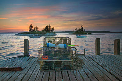 Sunset At Allen's Dock Art Print by Darylann Leonard Photography