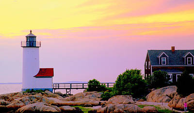 Photograph - Sunset At Annisquam Light by Caroline Stella