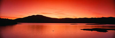 Bodies Of Water Photograph - Sunset At Ashokan Reservoir, Catskill by Panoramic Images