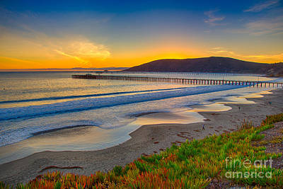 Sunset At Avila Beach Art Print