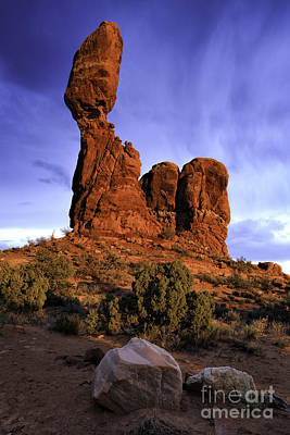 Photograph - Sunset At Balanced Rock II by Stuart Gordon