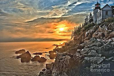 Photograph - Sunset At Bass Harbor by Adam Jewell
