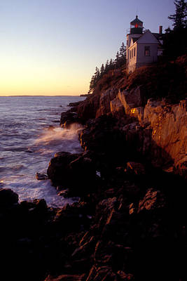 Photograph - Sunset At Bass Harbor Lighthouse by Brent L Ander