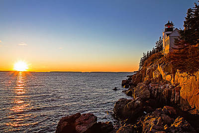 Photograph - Sunset At Bass Harbor Lighthouse by Robert Clifford