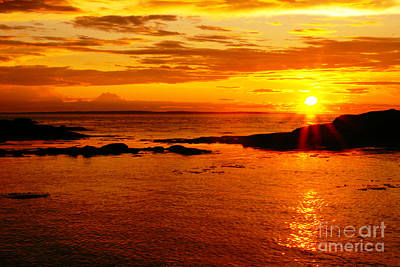 Nature Scape Photograph - Sunset At Bic by Aimelle