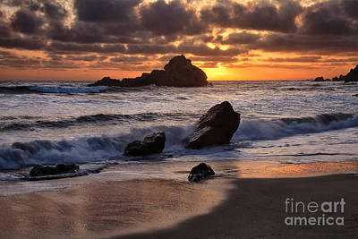 Photograph - Sunset At Big Sur by Stuart Gordon