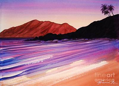 Sunset At Black Rock Maui Art Print
