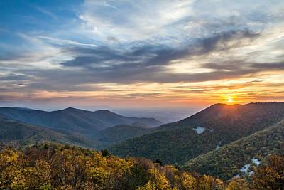 Animal Surreal - Sunset at Blackrock Mountain Shenandoah National Park by Pierre Leclerc Photography