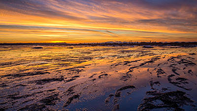 Photograph - sunset at Boundary Bay by Pierre Leclerc Photography