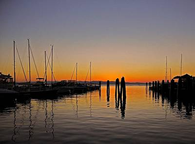 Photograph - Sunset At Burlington Bay - Vermont by Juergen Weiss