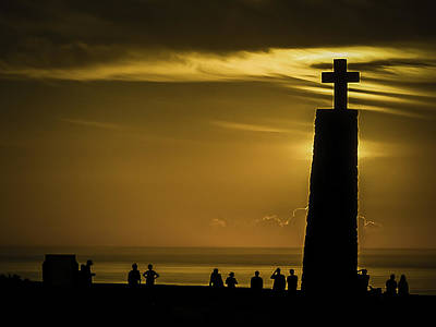 Photograph - Sunset At Cabo De Roca by Dave Hall