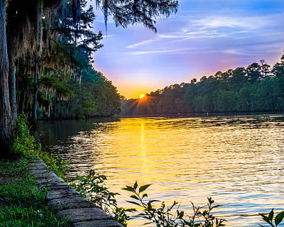 Sunset At Caddo Lake State Park Art Print by Geoff Mckay