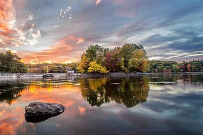 Photograph - Sunset At Cambridge Reservoir by Jatinkumar Thakkar