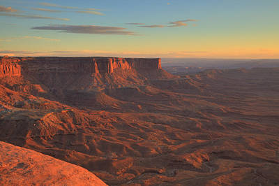 Art Print featuring the photograph Sunset At Canyonlands by Alan Vance Ley