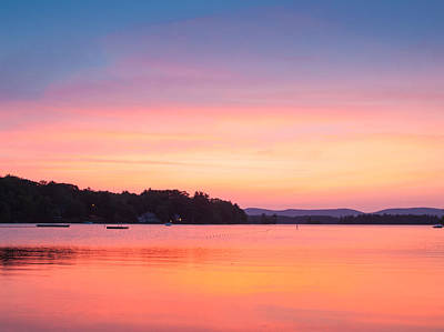 Photograph - Sunset At Chickawaukee Lake II by Ernest Puglisi