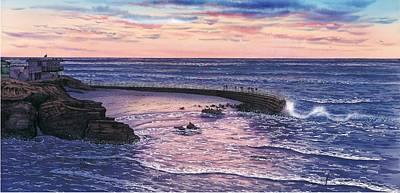 Sunset At Children's Pool Art Print by John YATO