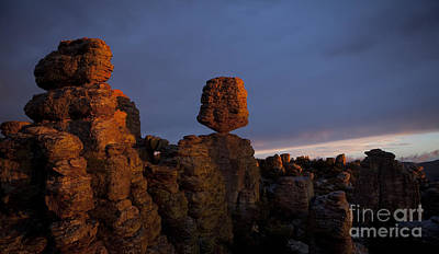 Painted Rocks Photograph - Sunset At Chiricahua by Keith Kapple