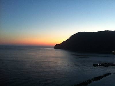 Photograph - Sunset At Cinque Terre by Angela Bushman
