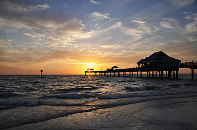 Sunset At Clearwater Art Print by Bill Cannon
