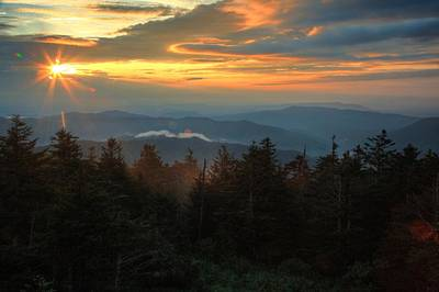 Photograph - Sunset At Clingman's Dome by Coby Cooper